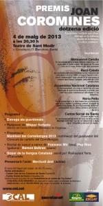 20130502 Premis Joan Coromines cartell