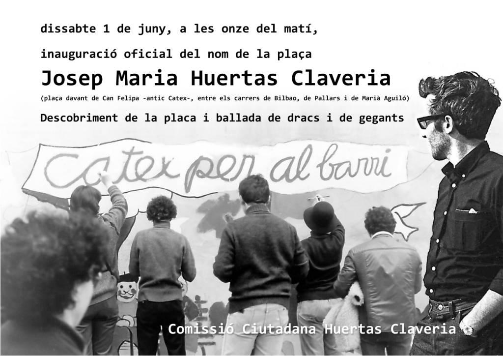 Poblenou celebra aquest dissabte la nova plaça Josep M. Huertas