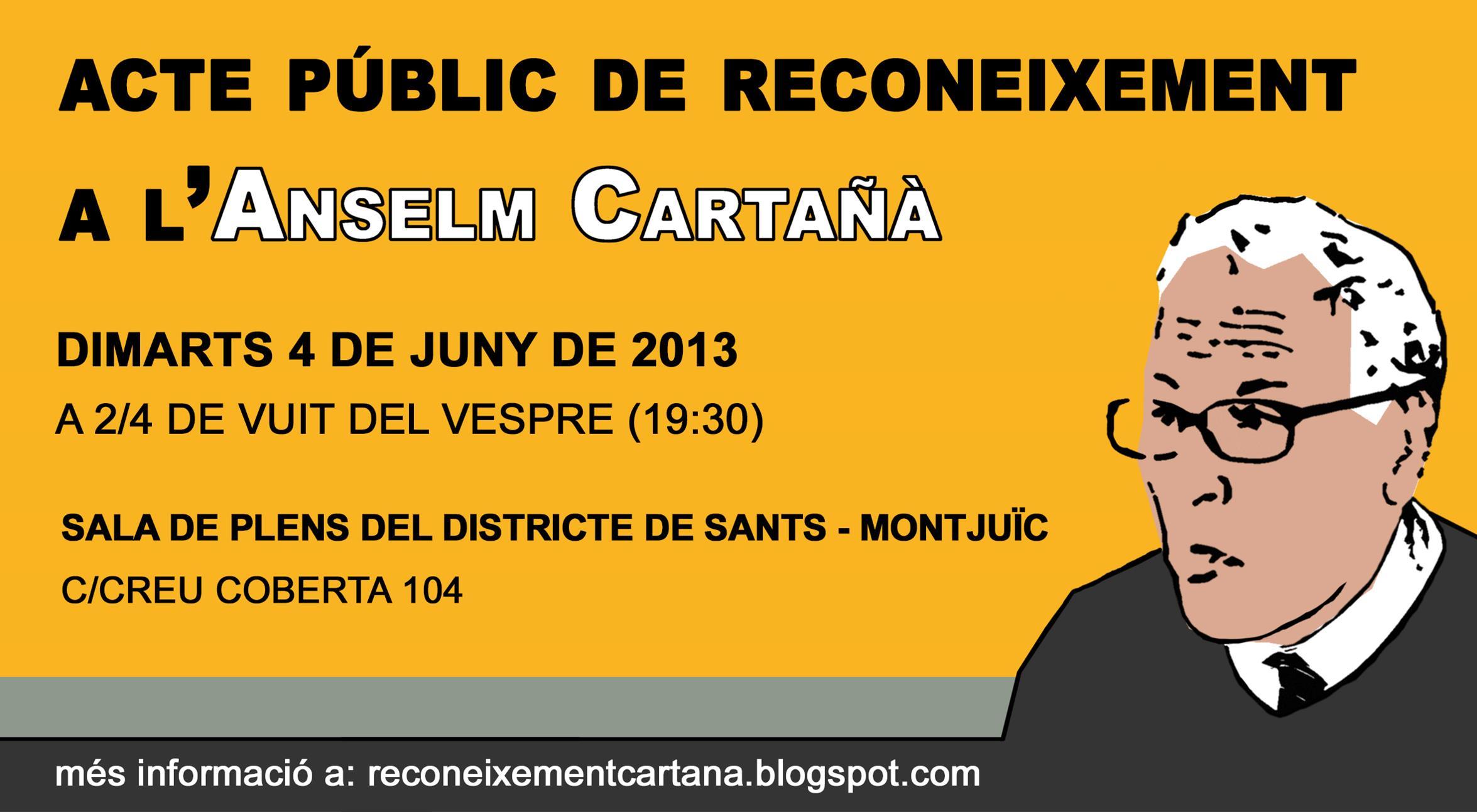 Homenatge a Anselm Cartañà