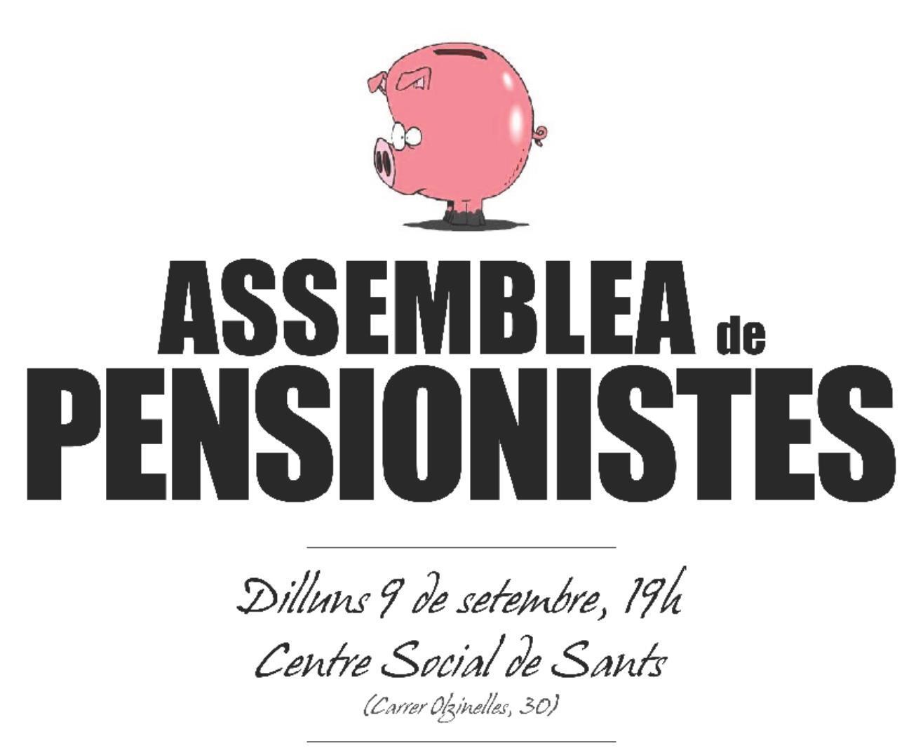 Defensem el sistema públic de pensions – Primera assemblea del curs