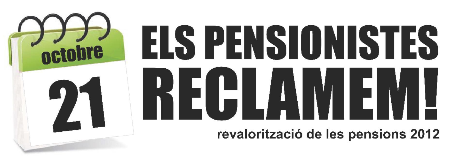 Salvem les Pensions – Vine a l'entrega col·lectiva del 21 d'octubre