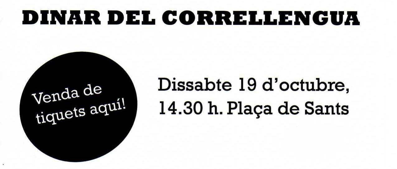 Ja pots adquirir els tiquets del dinar del Correllengua 2013