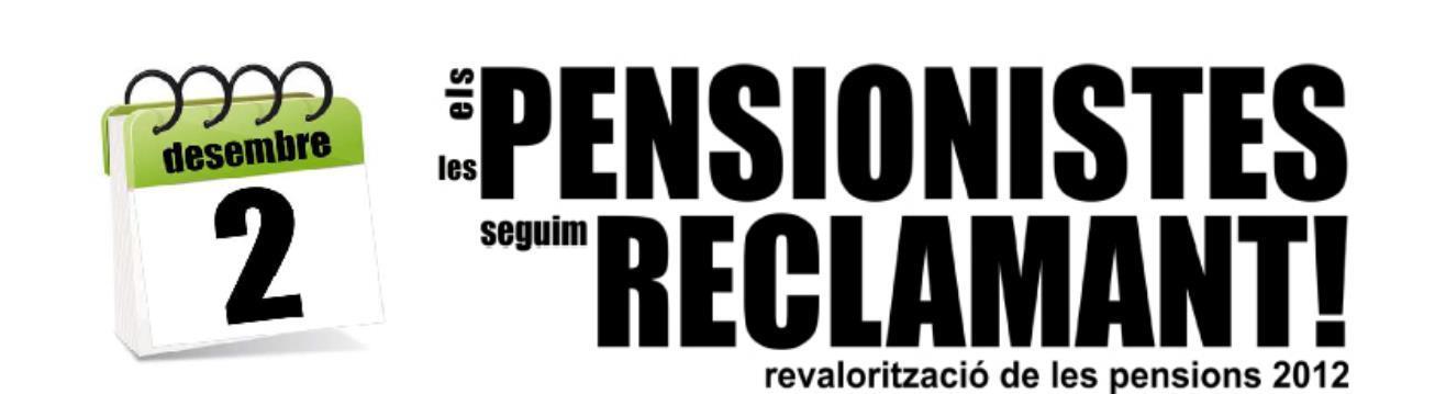Salvem les Pensions – Vine a l'entrega col·lectiva de reclamacions del 2 de desembre de 2013
