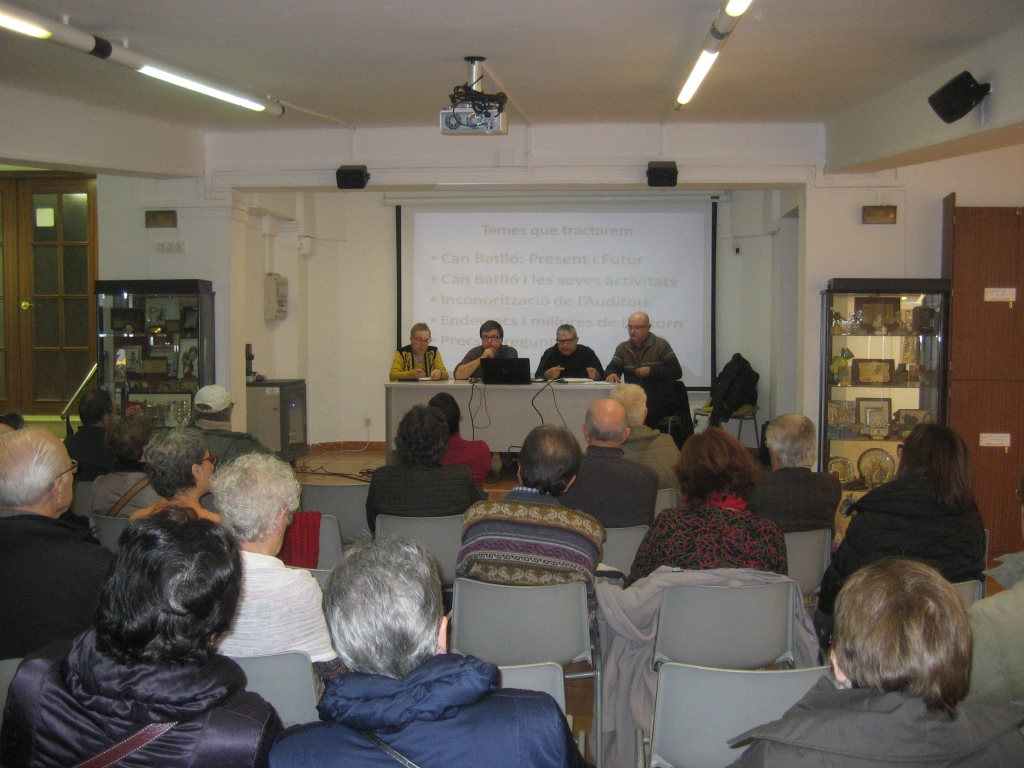 Les associacions veïnals informen sobre Can Batlló