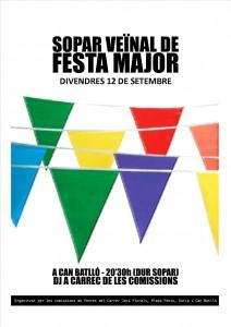 20140912 Sopar Festa Major