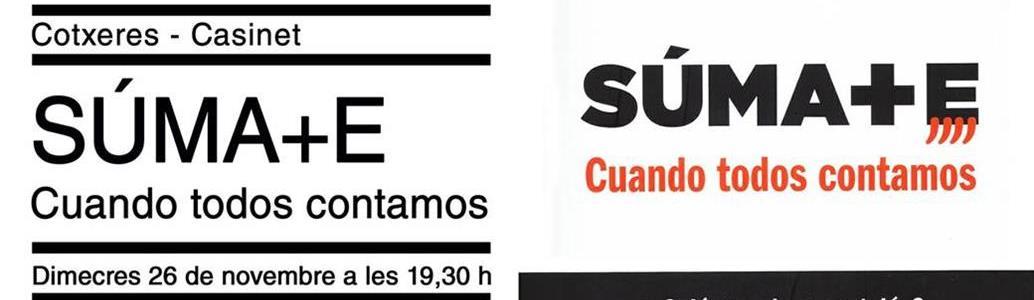Presentació del llibre «SUMA+E. Cuando todos contamos» a Cotxeres