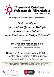 20150217 Conferència Fibromiàlgia