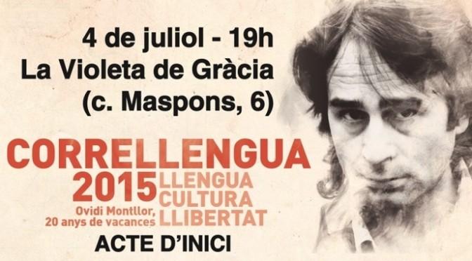 El Correllengua 2015 comença a caminar el proper dissabte 4 de juliol