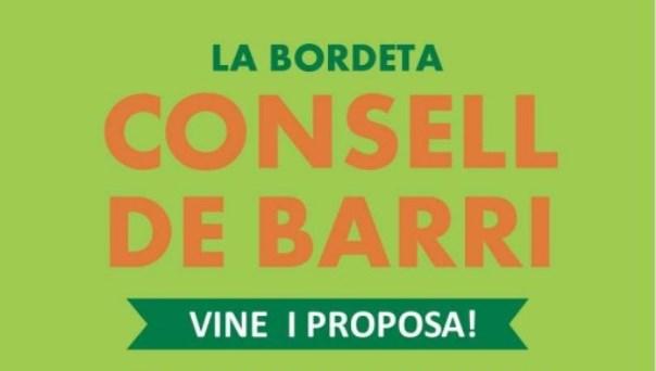 Vine i participa al Consell de Barri de la Bordeta (3 novembre)