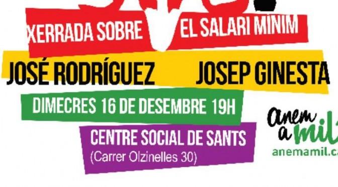 Què hem de fer per què el salari mínim arribi a 1000 euros? (16/12)