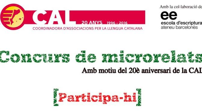 Participa al concurs de microrelats de la CAL (fins el 31/03)