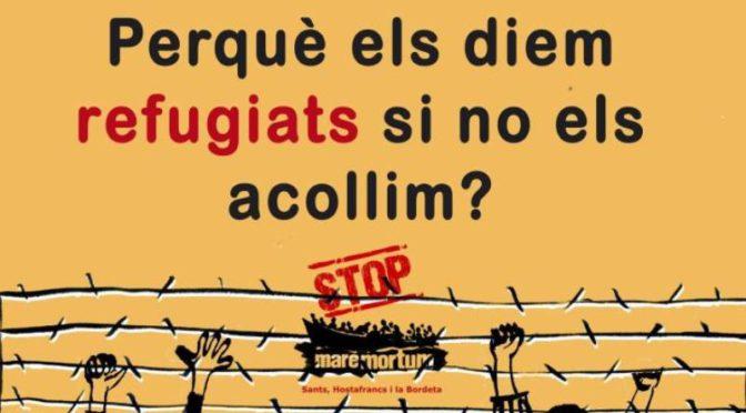 Concentració en suport de les persones refugiades (13 Juliol)