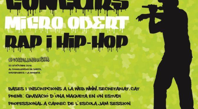 Concurs micro obert de rap i hip-hop 2016 (22 Octubre)