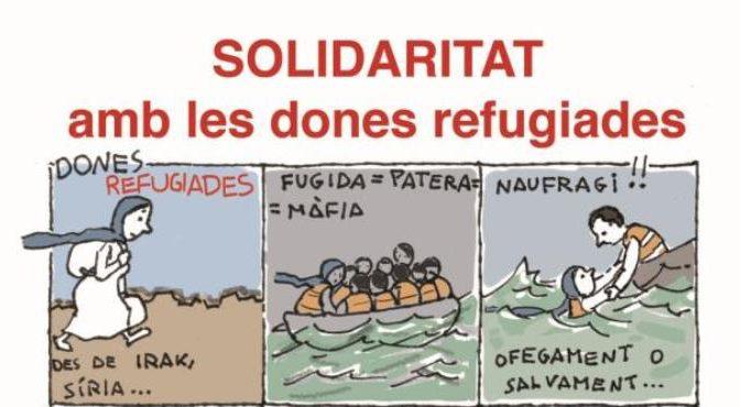Concentració en suport de les persones refugiades (12 Octubre)