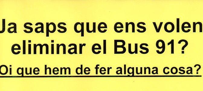 La Bordeta tallarà el trànsit per salvar el Bus 91 (6 març)