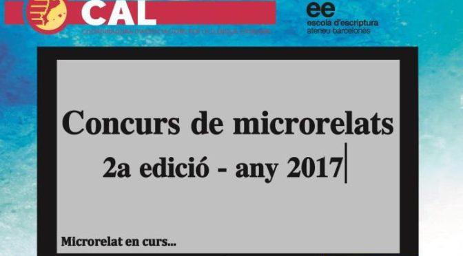 Participa al concurs de microrelats de la CAL (fins el 31 de març)