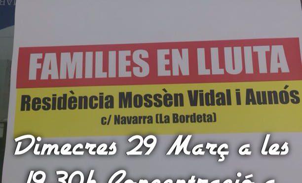Solidaritza't amb els familiars de la Residència Assistida Mn Vidal (29 març)