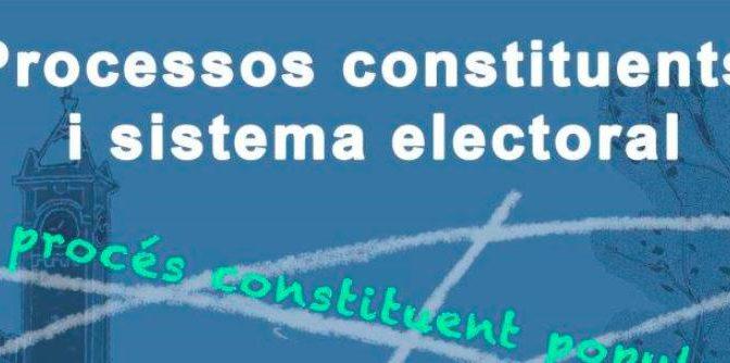 Quin sistema electoral hauria de tenir la futura constitució catalana? – 3 Maig