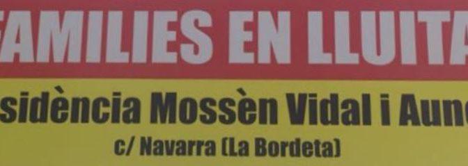 Signa per exigir una atenció de qualitat als avis de la Residència Assistida Mn Vidal – Abril 2017