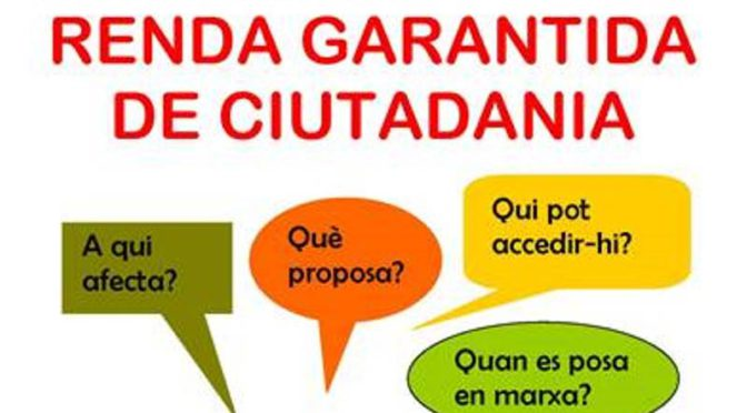 Què és la Renda Garantida de Ciutadania? – 20 Juny