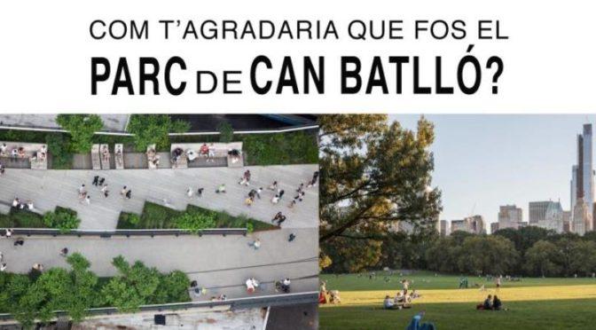 Com t'agradaria que fos el Parc de Can Batlló? – Vine a l'assemblea del 20 de novembre