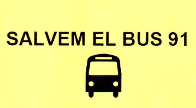 Salvem el Bus 91 – Vine al Consell de Barri de la Bordeta – 28 Novembre