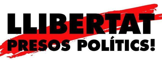 Tots els dilluns Sants demana l'alliberament dels presos polítics