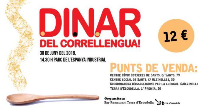 Ja pots adquirir els tiquets del dinar del Correllengua 2018