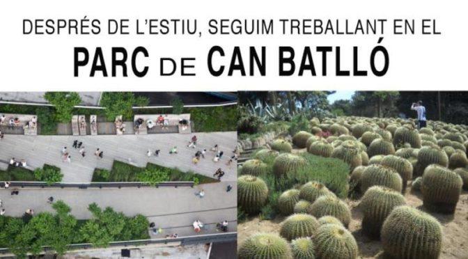 Com t'agradaria que fos el Parc de Can Batlló? – Vine a l'assemblea del 27 de setembre