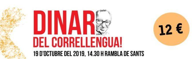 Ja pots adquirir els tiquets del dinar del Correllengua 2019