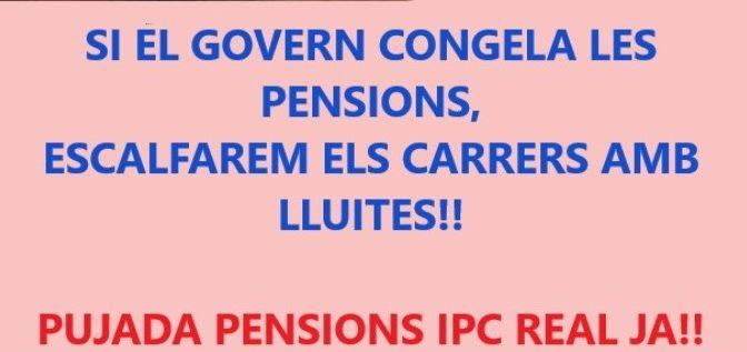 Els pensionistes tornen a la plaça Universitat – 13 gener