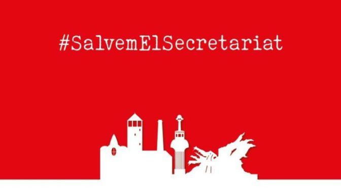 #SalvemElSecretariat – Manifest – Maig 2021