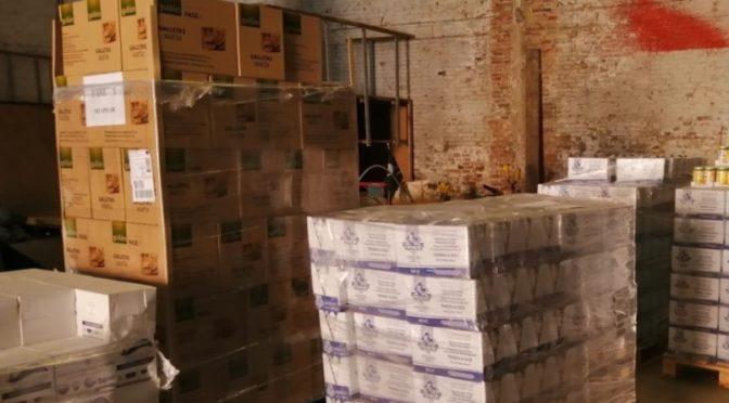 Ja s'ha completat una nova edició de descàrrega i repartiment d'aliments